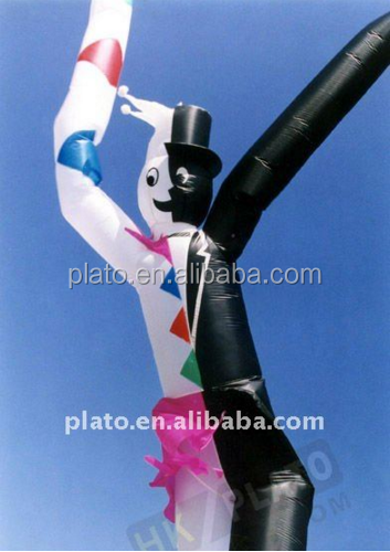 Black and white Inflatable Advertising Air Tube, Promotion Air Dancer Blower