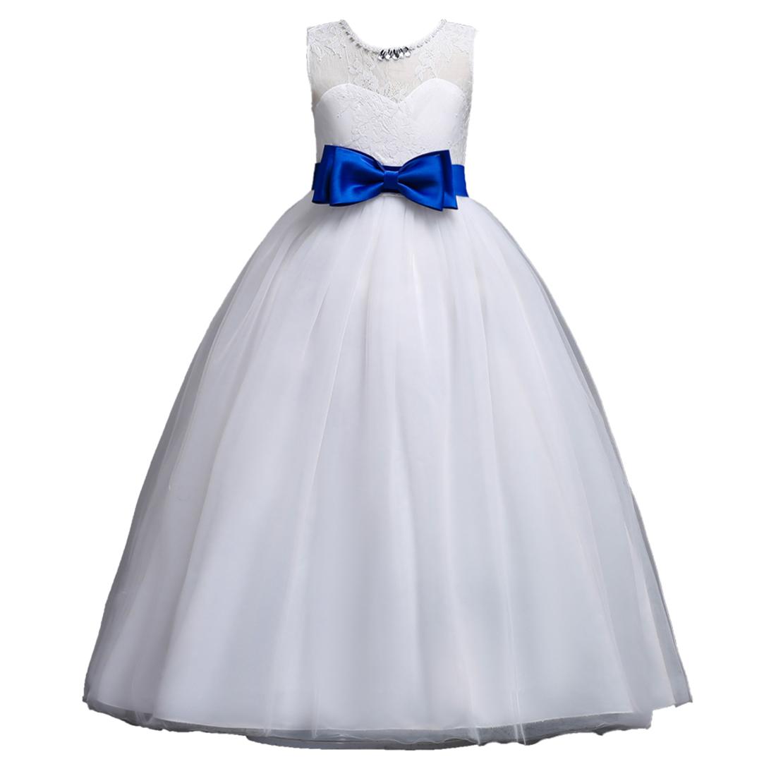 18c07e61b 2018 El Último Diseño Blanco Color 10 Años Niñas Vestido Con Bowknot Para  La Boda Cumpleaños - Buy 10 Años Niños Niñas Vestido,Blanco Color 10 ...