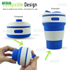 Travel Silicone Folding Cup,Collapsible Silicone Coffee Cup mug