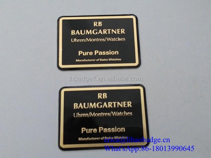 Wholesale Price Professional Customize Metal Label For Watch Box Buy Custom Adhesive Metal