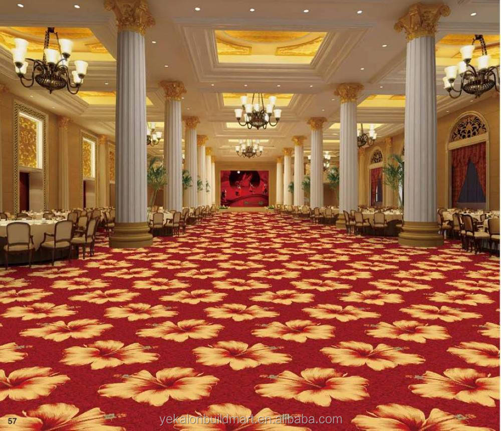 Chinese Axminster Hotel Ballroom Carpets Modern Carpet For