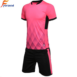 In Stock Pink Adult Football Training Jersey/Soccer Uniform For Sale