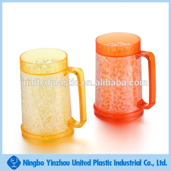Clear Acrylic Double Wall Plastic Freeze Mug With Handle From  Unitedplastics - Buy Double Wall Plastic Mug With Handle,Acrylic Double  Wall Mug,Clear