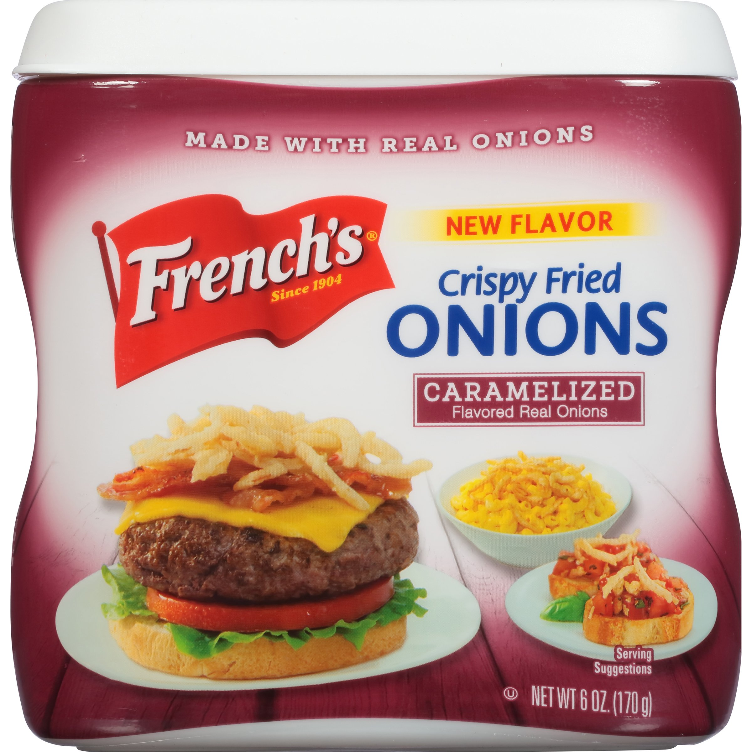 French's Crispy Fried Onions, Caramelized, 6 ounce