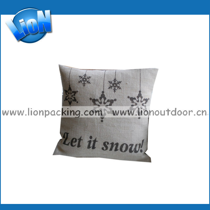fancy sofa cushion pillow with snowing logo