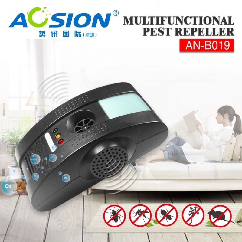 Aosion Sample available electromagetic + anion + ultrasonic + night light mouse deterrent plug for mouse rat bug fly