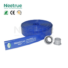 8 inch smooth blue flexible pvc lay flat drain pipe