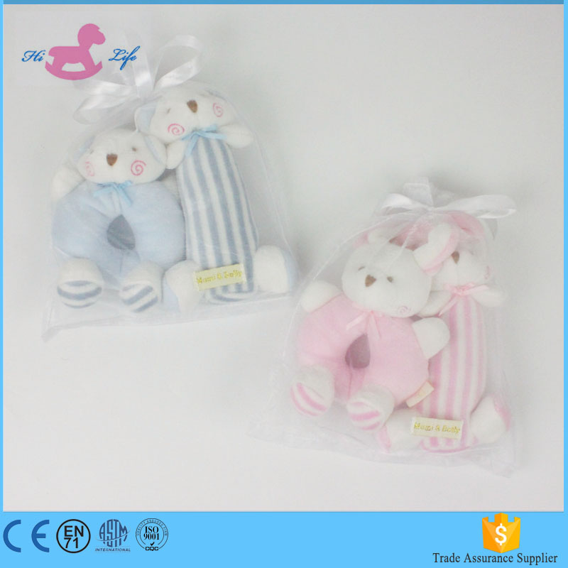 Amazon hot sale custom bunny soft <strong>rabbit</strong> plush toy with BB sound baby rattle