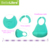 FDA Manufacturer Wholesale Waterproof Custom Printed Logo Cartoon Silicone Baby Bib