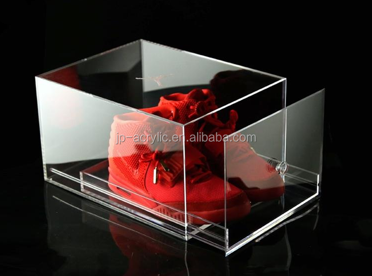 hot sale customized clear acrylic sneaker shoe storage box with drawer buy shoe box sneaker. Black Bedroom Furniture Sets. Home Design Ideas