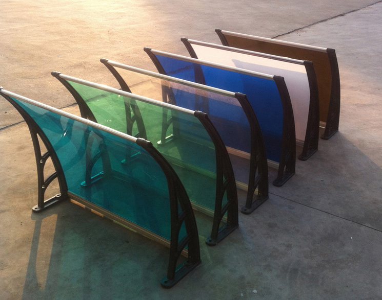 Plastic cover awning, car roof rack awning