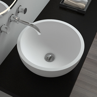 BS-8301 Bathroom kitchen washing stone resin round dish basin