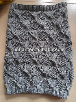 Hot Sale Women S Fat 100 Acrylic Soft Chunky Knitted Winter Neck