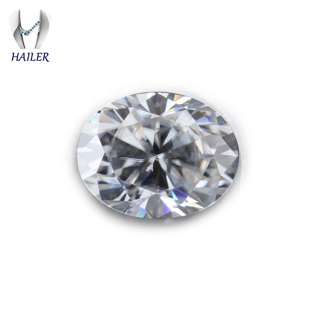 Affordable Good Price Synthetic Diamond White Color 10x8mm oval moissanite