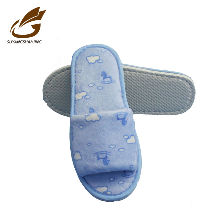 Professional cotton customized winter warm indoor slippers for children