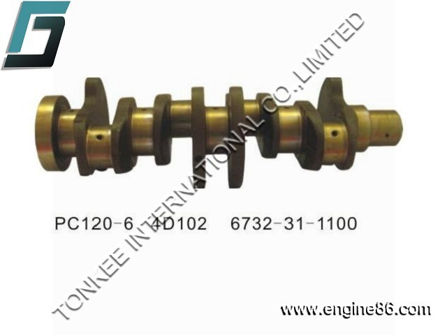 6732-31-1100 PC120-6 4D102 crankshaft,4D102 engine crankshaft