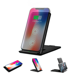 OEM foldable 3 Coils fast charging qi 10W wireless charger for Iphone for Samsung