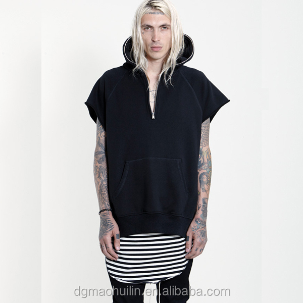 Men Street Wear Big And Tall Clothing Raw Short Sleeve Pullover ...