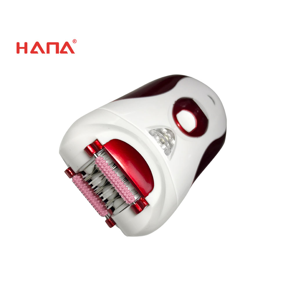 HANA Crimson 2 in 1 lady shaver epilator battery-operated replaceable heads