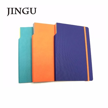 a5a6 new item pu notebook spine with die cut for pen free sample