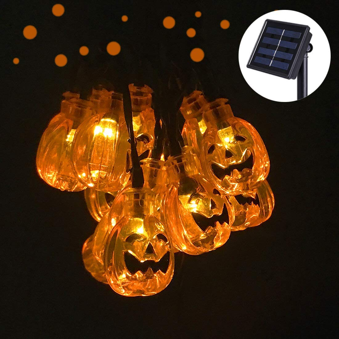 Get Quotations Semilits Solar String Lights Outdoor 30led Yard Decorations With Pumpkin Garden Decor For Christmas