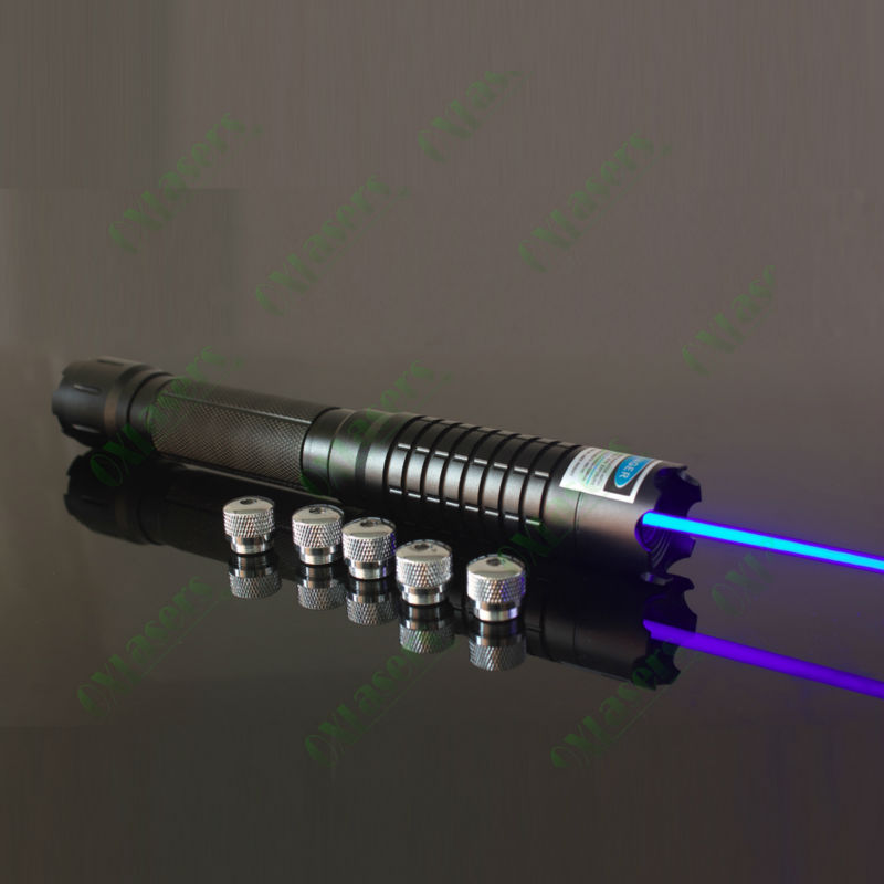 OXLasers OX-BX5 the most powerful lazer 4000mW 4W 445nm-450nm focusable burning blue laser pointer burn A4 paper
