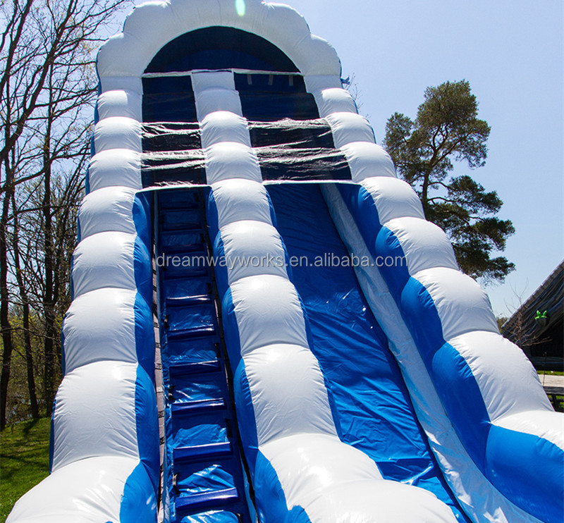 Cheap 18ft inflatable wave water slides with pool for hot sell
