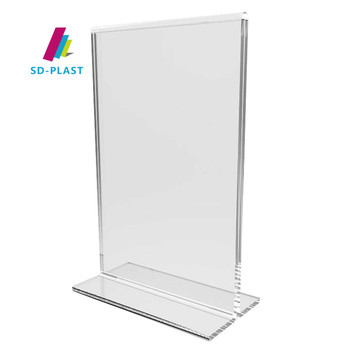 clear a4 plastic menu holders for restaurants and bars table menu holder stand