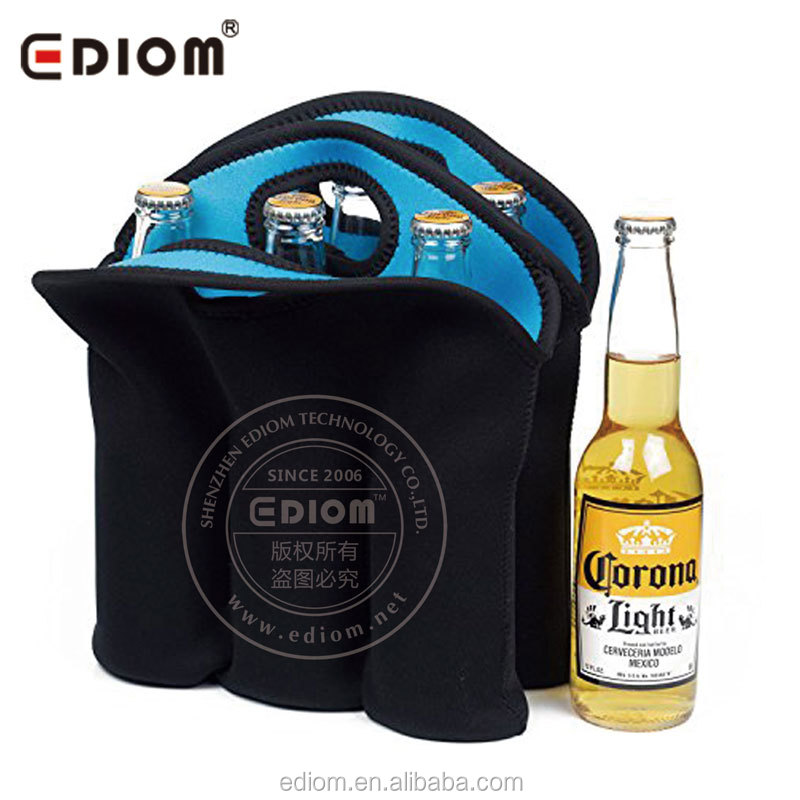 Neoprene 6 Pack Can Cooler | Insulated Six Pack Beer Bottle Cooler