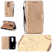 Real wallet Stand Leather Case For LG Leon 4G LTE H340N with Card Slots and Money Pocket