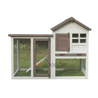 Cheap High quality wooden rabbit huntch bunny house cage with run