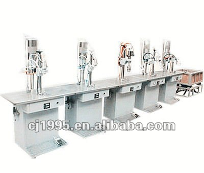 Polyurethane foam aerosol spray filling production line