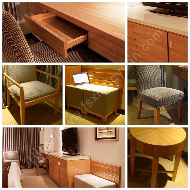 Xy novel modern solid oak wood king bedroom set space - Space saving king size bed ...