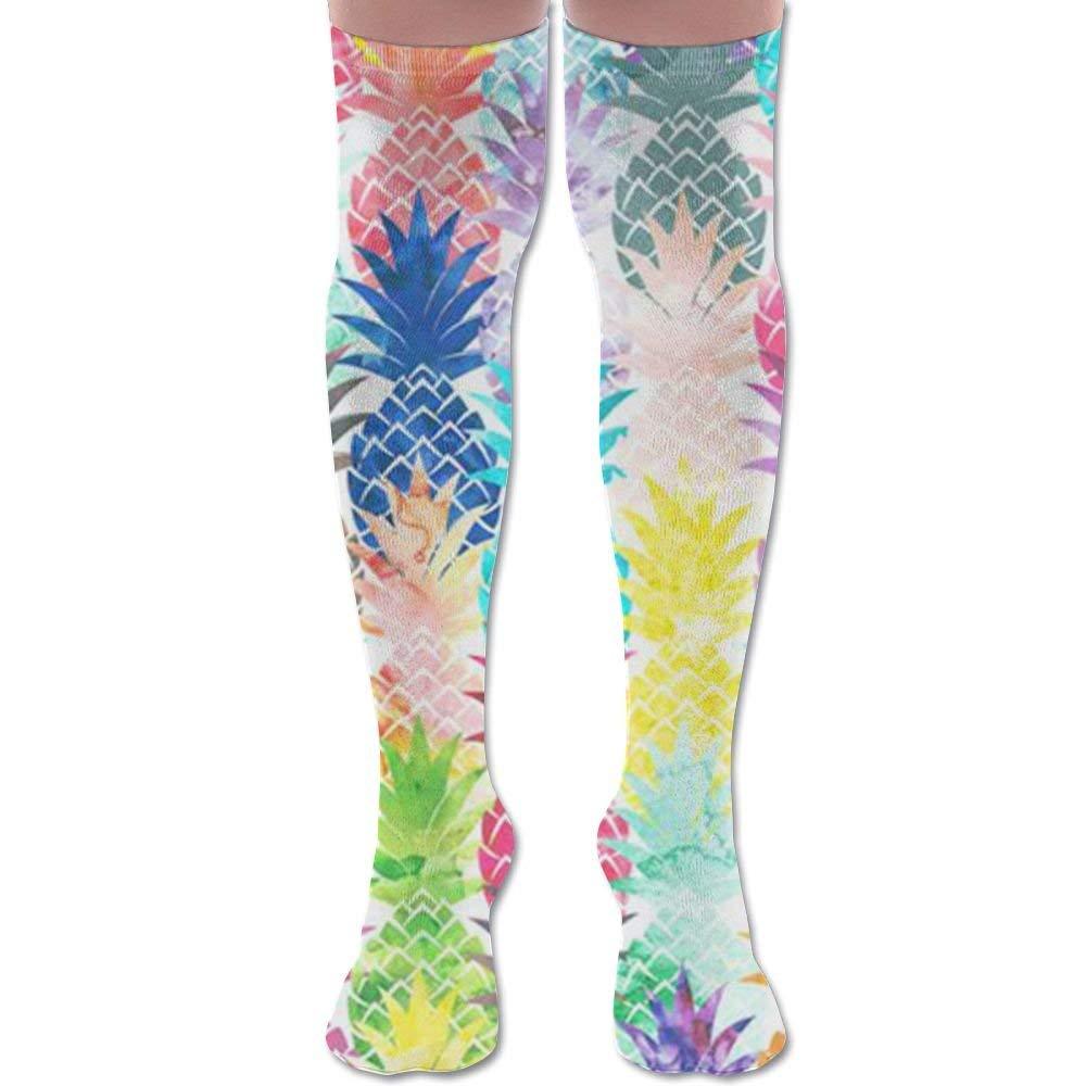 A Stylish Retro Aloha Pattern Unisex Compression Socks Athletic Tube Stockings Sport Long Socks One Size Hello Hawaii