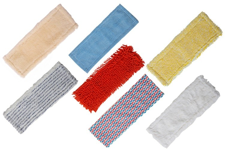 Polyester chenille cleaning dry mop head for house floor