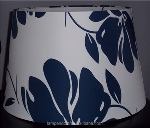 Mass production hospitality wholesale cheap high quality artistic handicraft handmade new design dark blue lampshade