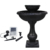 Black Bowl  Large Outdoor Classics Gardens Solar Two Tiered Birdbath Fountain
