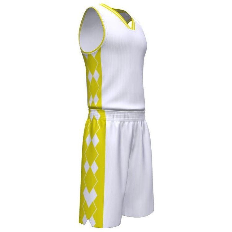 Beste prijs OEM gesublimeerd omkeerbare basketbal uniform set