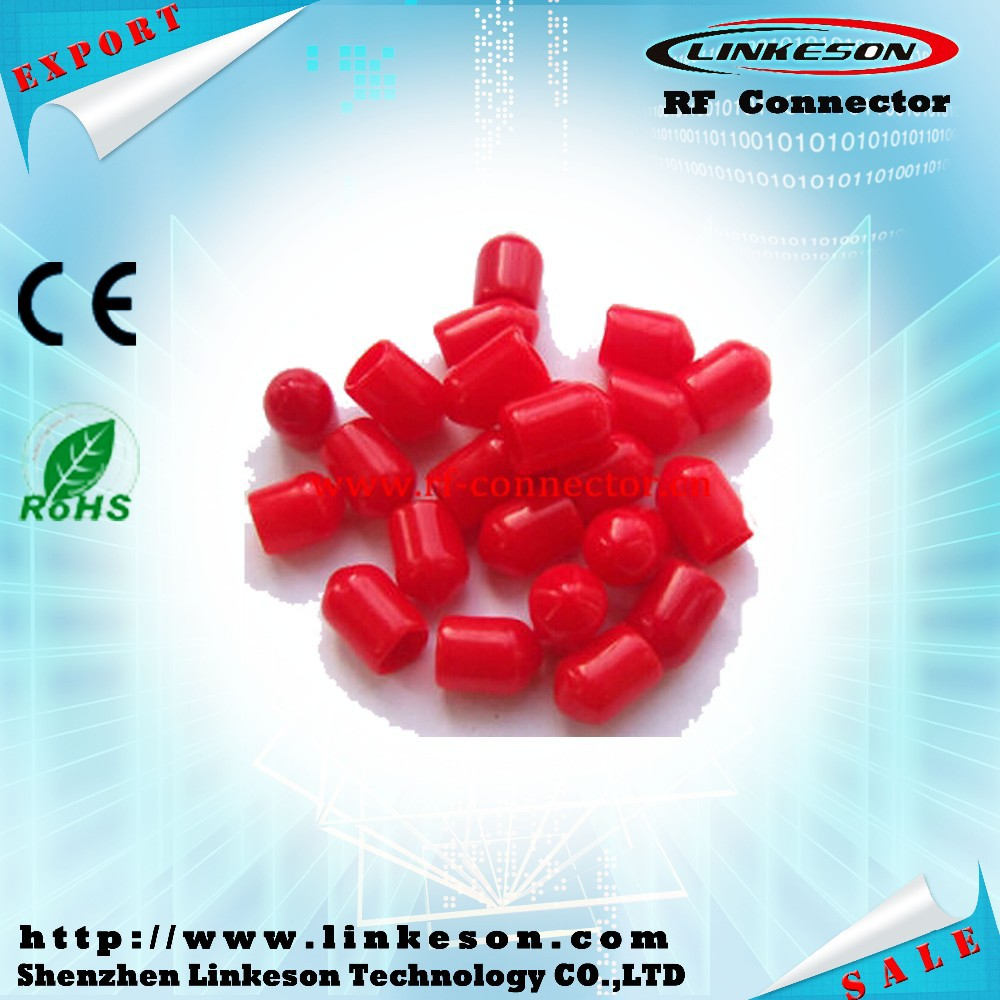 Plastic covers Dust cap Red Protection cover for RF SMA female connector