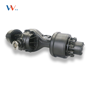 Tricycle rear differential electric motor rear axle