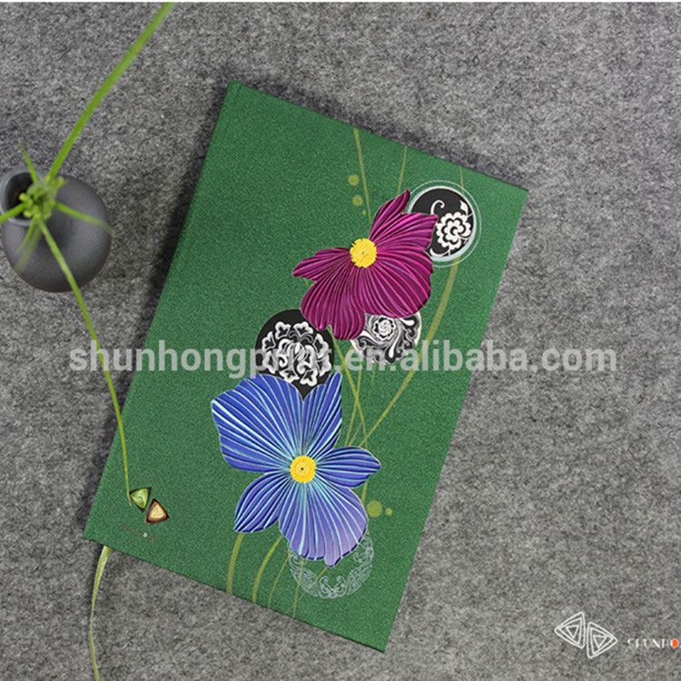 2019 Promotional Gift Quilling Paper Fancy Notebook A5 Diary Notebooks Guangzhou Factory School Stationery Wholesale Bulk SH04