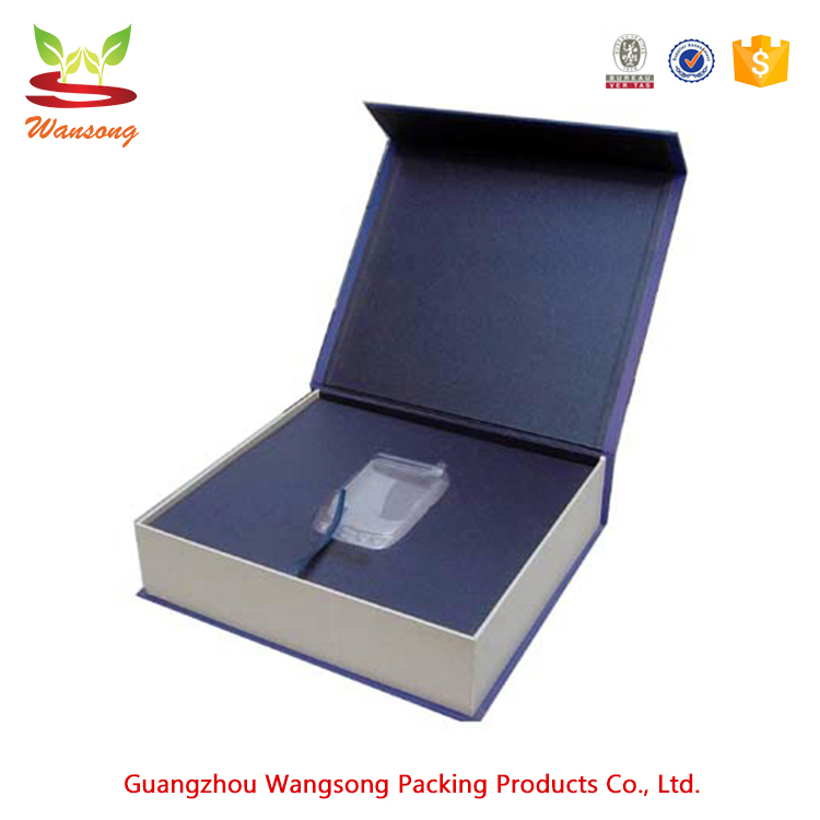 Customized foldable magnetic gift box , high quality hard cardboard paper box packaging