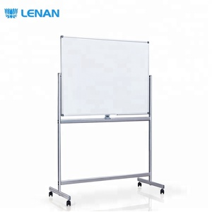School Supplies Reversible Double Sided Magnetic Writing White Board Mobile Whiteboard Easels Stand with Wheels for Classroom