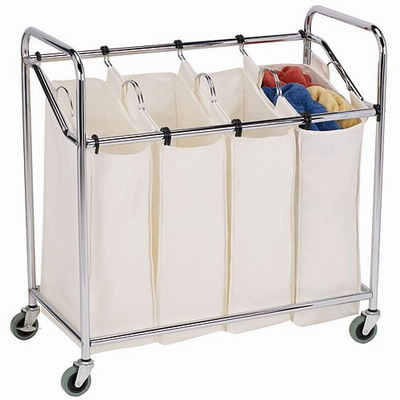 4 Compartment Laundry Hamper Laundry Sorter With Removable