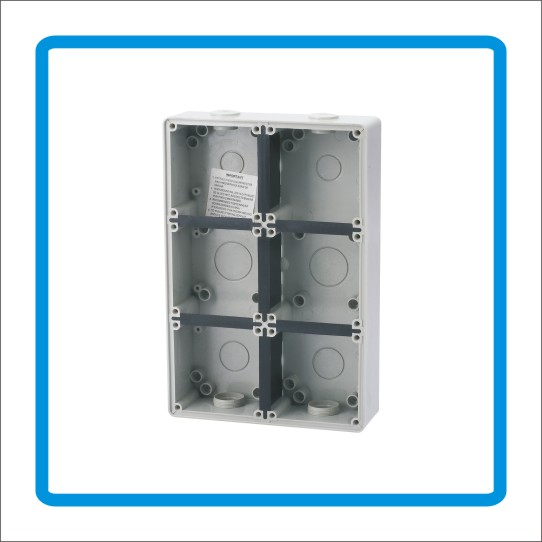 8 module enclosoures for switches plugs sockets and MCB/RCD IP66