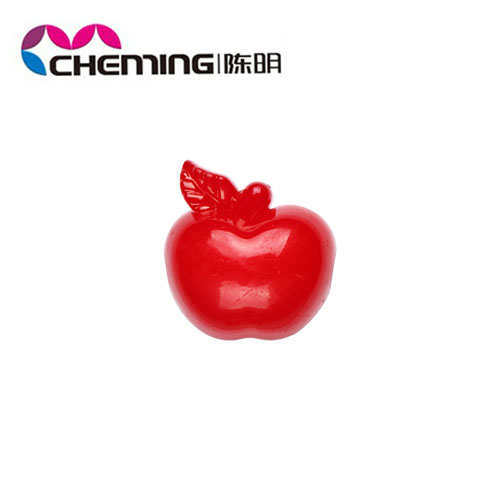 2014 new design mixed color cheap solid plastic fruit shape bead