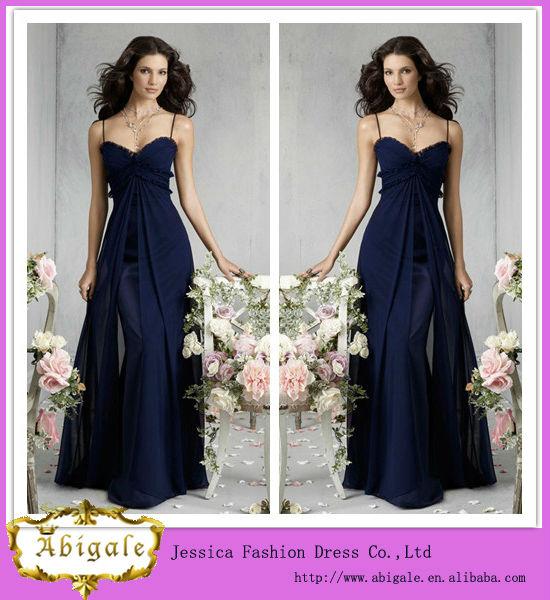 Vestidos de noche azul indigo