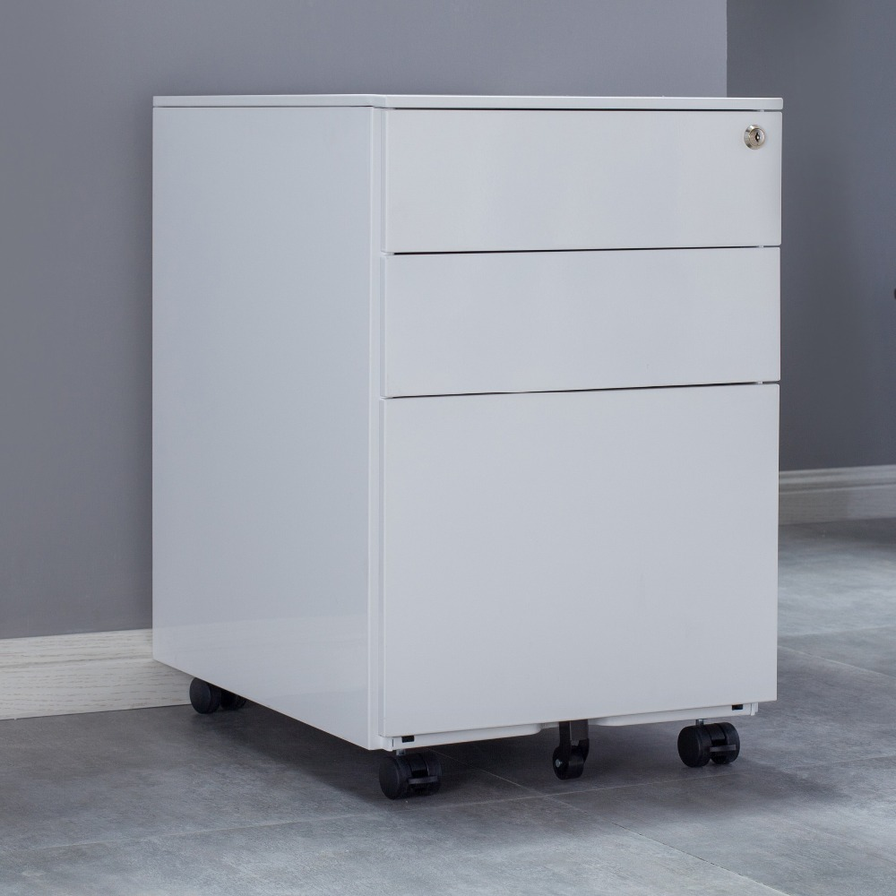 Movable 3 Drawer File <strong>Cabinet</strong> Use for Filing Storage