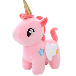 Pink Unicorn Angel Plush Doll Stuffed Toy