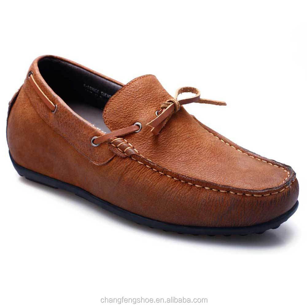 italian leather casual shoes height increasing